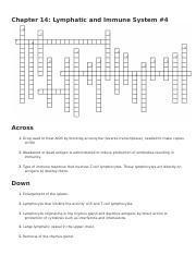 Chapter 14- lymphatic and immune systems crossword4.docx