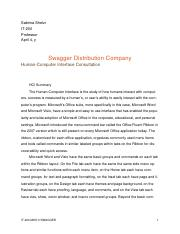 IT-200 Swagger Dist. Co. Case Report.docx