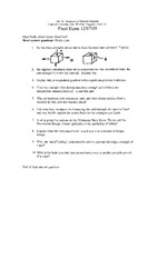 Final Exam Fall 2009 Solution Mechanics of Machine Elements
