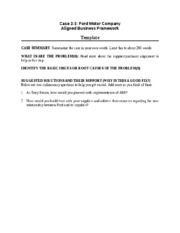 Case 2-3 Ford - worksheet template