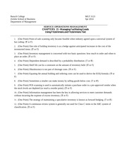 Spr 14 ANSWERS CPT 15  MGT 3121 (Inventory)