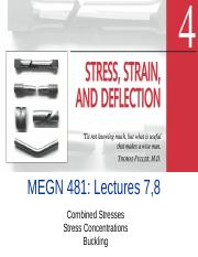 MEGN481 L7,8 Combined stress, Stress Concentration and Buckling 2-2(6)-17