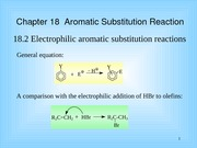 Chapter 18 Aromatic Substitution Reaction