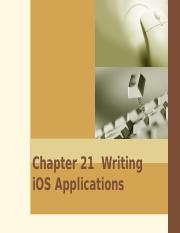 21. Writing iOS Applications.ppt