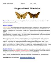 Week 10 Lab B worksheet.docx - Peppered Moth Simulation ...