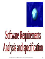 Chapter 3 Software Requirements