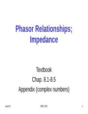 EEE202_Lect14_PhasorRelationsImpedance