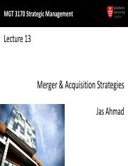 MGT3170 Lecture13-MA Strategies-2015-print
