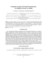 Cstomer Loyalty in Virtual Environments - An Empirical Study in e-Bank