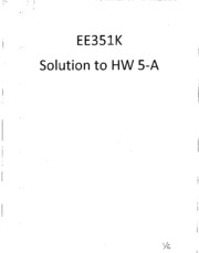 EE351K_HW5-A Soln Fall 2009