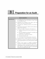 Chapter 3 Preparation for an Audit