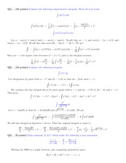 Math 2423  Midterm 3 Solutions