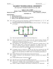 (www.entrance-exam.net)-GTU Ceramic Technology 1st Sem- Elements of Electrical Engineering Sample Pa