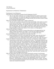 Experimental Movement Class Notes