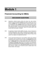 Solutions to Module 1 Questions and Mini Exercises
