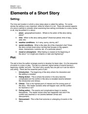 ENG2D1-Elements of a Short Story