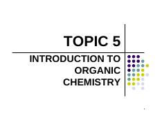 Topic 5- Organic Chem-book