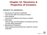 Chapter 12- Structures and Properties of Ceramics