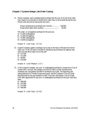 Managerial accounting case study solutions