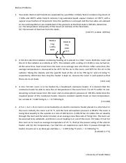 Questions (Review problems - Thermodynamics)