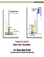 Lectures 11 and 12 Permeability