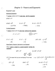 Chapter 3 - Powers and Exponents