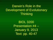 06 - Presentation #4 - Evolution in the mid-Nineteenth Century