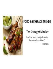 Food and Beverage Mangement - Trends.pptx