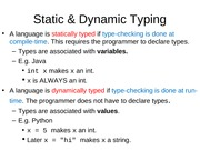 15.1 Dynamic and Static Typing