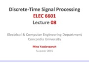 Lecture8 DiscreteTime Signal Processing for Digital Signal Processing