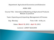 AGBU 3002 Lecture 1 March 19 2012