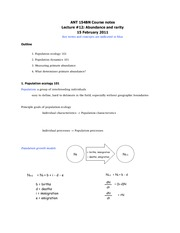 ANT 154B Course notes- Lecture _12