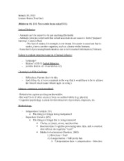 Class Four (Test One Notes)
