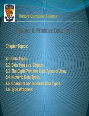 Chapter 8. Primitive Data Types
