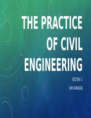The practice of civil engineering