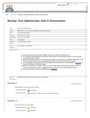 Test Submission- Unit II Assessment
