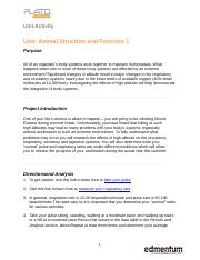 Animal Structure and Function 1.docx