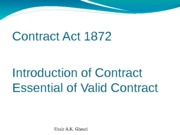 Contract Act 1872