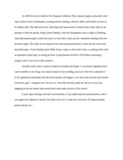 Narrative Essay - The Hangover