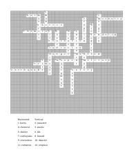 crossword with answers