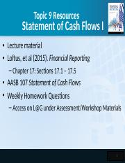 2102AFE Topic 9 - Cash Flow Statements I.pptx