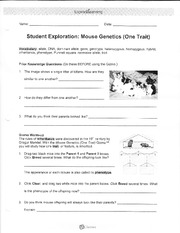 Mouse Genetics (One Trait) Gizmo _ ExploreLearning.pdf - 3 ...