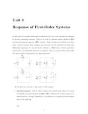 Response of First-Order Systems