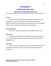 Experiment 6-Grain Size Analysis
