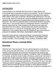 Learning Styles Research Paper Starter - eNotes.pdf