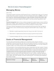 What Are the Goals of Financial Management.docx