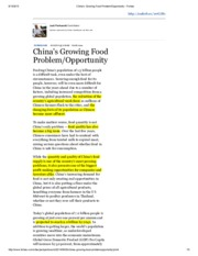 China's Growing Food Problem_Opportunity - Forbes.pdf