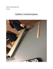 Galileo's inclined plane.docx
