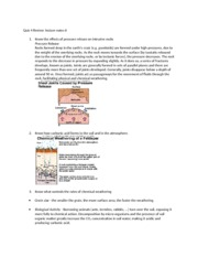 Geology 1 Quiz 4 Review
