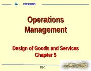 CH05-Design of Goods and Services